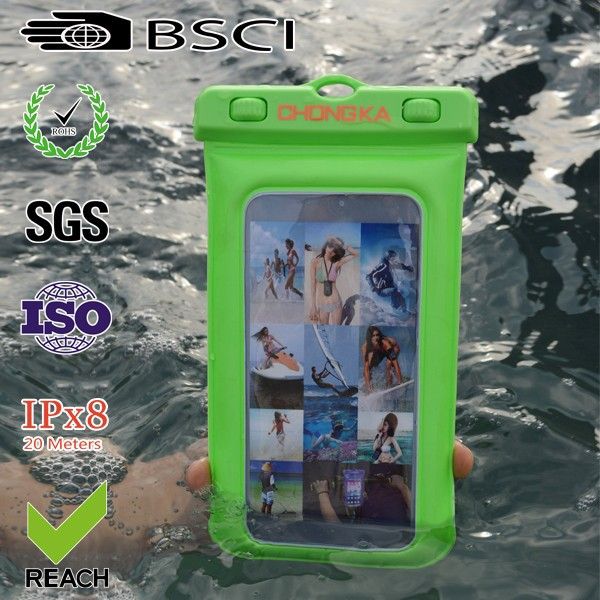 2015 funny mobile phone waterproof case, pvc waterproof case for iphone 4