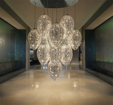 Dubai luxurious Morocco crystal beads eggs ball ceiling lighting chandeliers