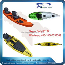 Double Seat Sit On Top Eco-friendly Reinforced Lldpe Canoes/kayaks For Fishing/matches/drifting Baikal Type