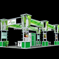 6 by 6 booth stand display Maunfacture aluminum truss display material portable display stand , booth design , kiosk design