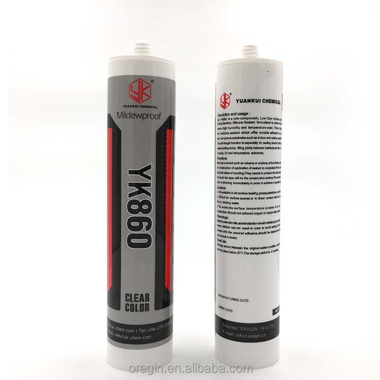 Good sale! White/black color butyl rubber caulk silicone sealant with refillable cartridges nozzles made in china