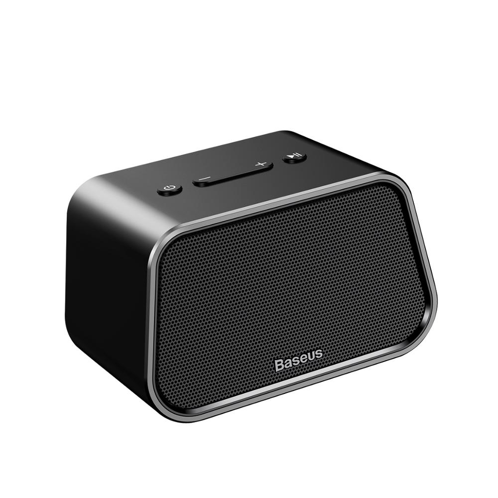 Baseus Encok 3D stereo Music surround Aluminum Alloy Shell Black Multi-functional support <strong>U</strong> disk TF card AUX Wireless Speaker