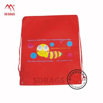 China supplier custom printed eco friendly reusable non woven drawstring bag