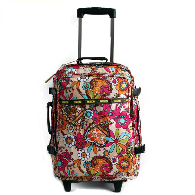 fashion printing louis kaiser luggage travel trolley bags