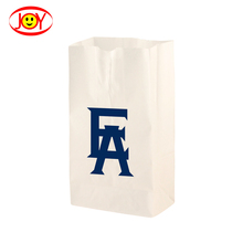 Eco- friendly Recycle kraft paper food snack paper bag without handle