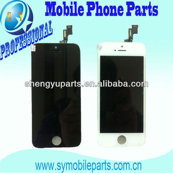 Mobile Phone LCD For IPhone5 5S LCD With Touch Screen can accept paypal