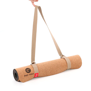 Pido moq 1pcs natural rubber cork yoga mat with carry strap