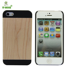 High quality natural wood mobile phone accessories, natural wooden phone case for iphone5 5s