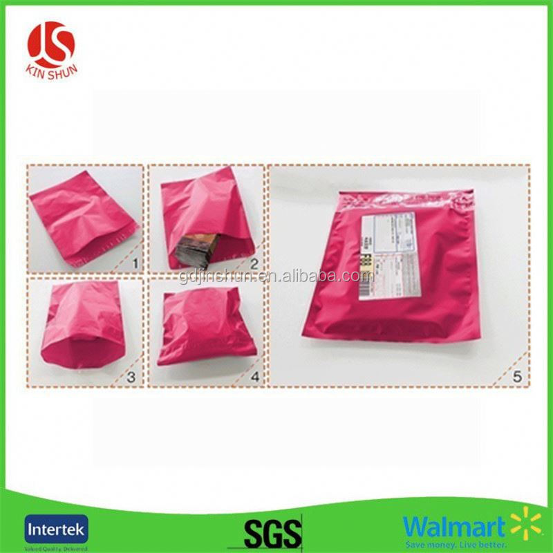 Wholesale self adhesive poly envelopes clear mailers plastic colorful mailing bags guangdong huizhou manufacturer