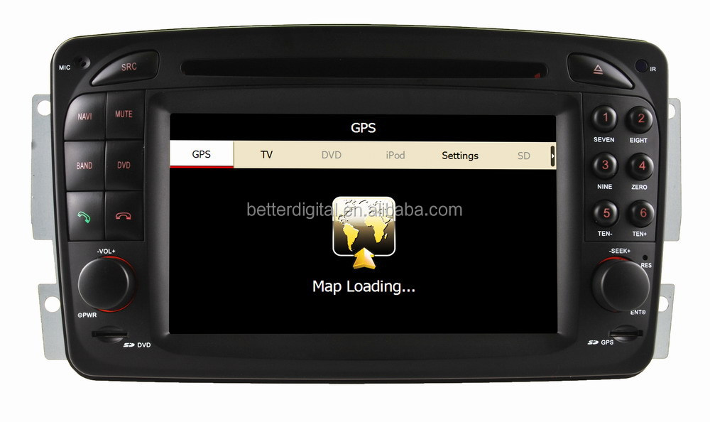 car dvd player gps for mercedes w210 1998-2002 with HD 1080P