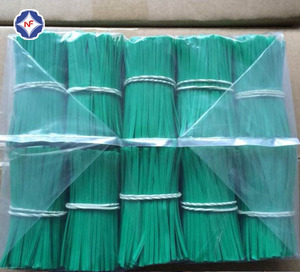 bag closure used precut colorful plastic coated iron wire twist tie
