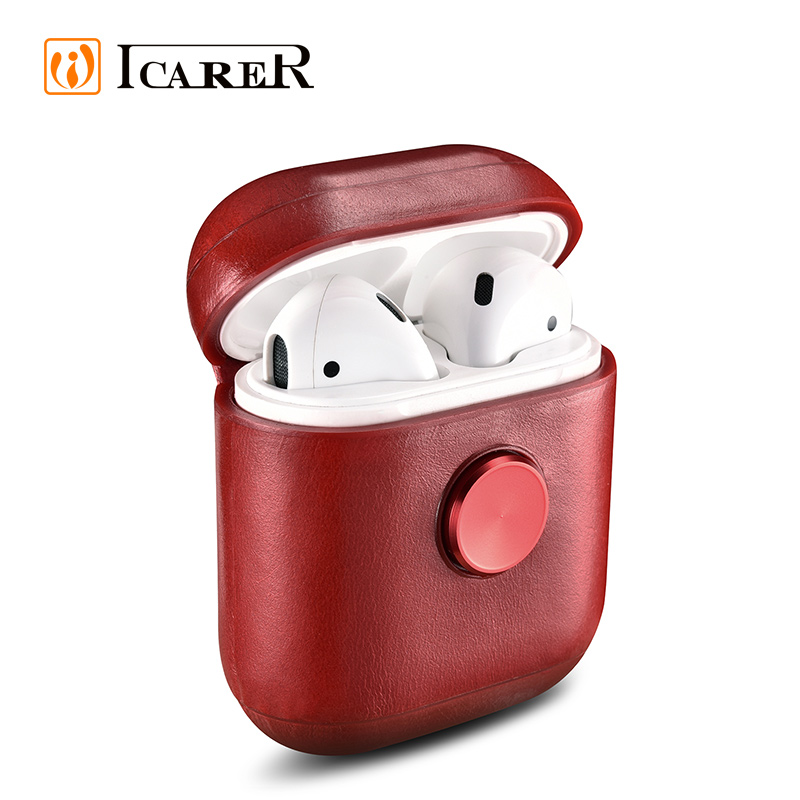 New Fidget Spinner Headphones Real Leather Protective <strong>Case</strong> for Air pods