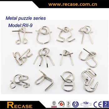 Metal wire puzzle metal puzzle set entertaining trick brain teaser