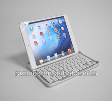 For iPad Mini Keyboard with Stand Aluminum Wireless Keyboard Cover Case