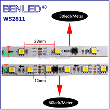 Hot 5050 WS 2811 SM16703 UCS1903 Pixel Waterproof DC12V Addressable Color RGB 020 Side View Flexible LED WS2811 IC Strip Light