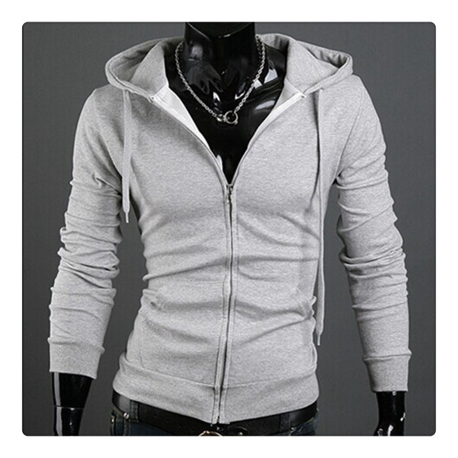 Low moq.10pcs wholesale six solid colors choice slim design zipper cardigan style men's European fashion sweatshirts