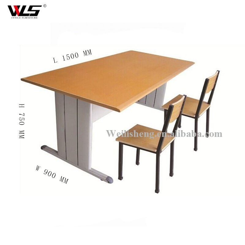 School furniture modern double desk and chairs for student