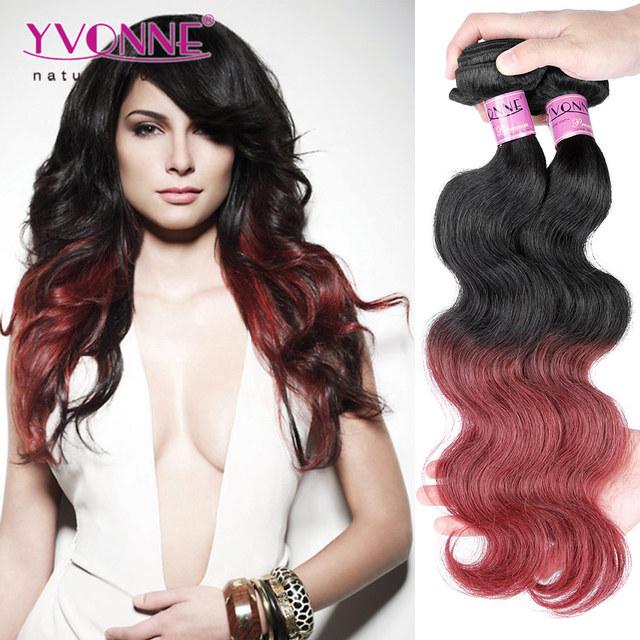 Peruvian hair weaving 100% human ombre hair braiding hair
