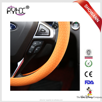 Insulated PVC customized not leather Artificial car steering wheel cover For 4 Spoke Wheel