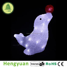 LED Acrylic Sea Lion and Star Christmas Decoration Light