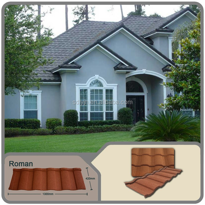 Professional roofing factory direct roof tiles,stone coated metal roofing price with low price
