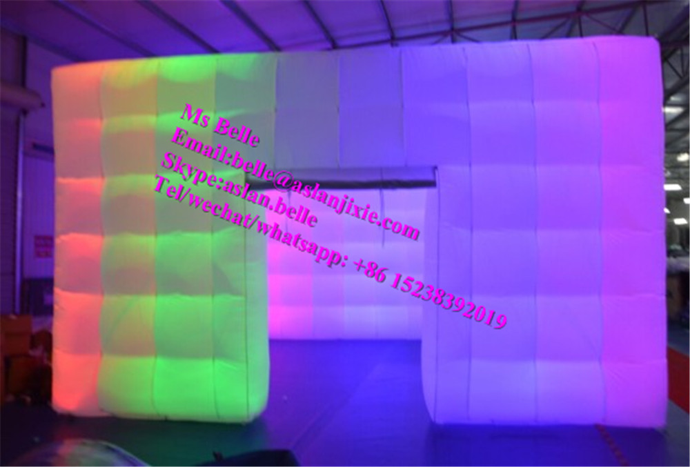 Wedding Party Inflatable Cube Photo Booth with LED