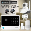 2016 new product Android IOS APP GSM wifi home alarm system G90B with IP camera