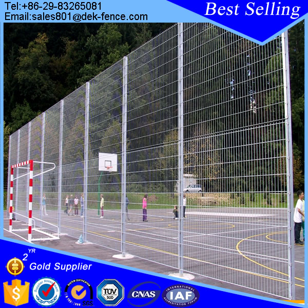 Galvanized iron 358 high security fence panels for prison