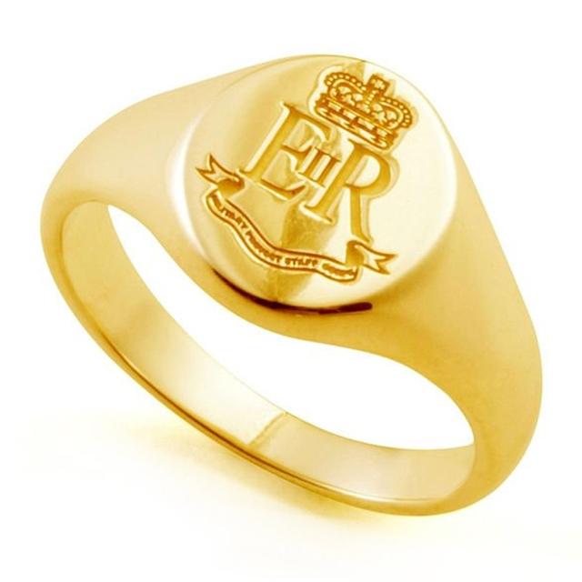 3D computer custom design gold jewellery copper signet ring