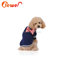 Popular style winter warm pet dog clothes sweater with bowknot