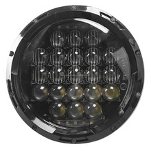 super bright 7 inch led headlight for jeep wrangler jk 105w led h4 headlight dc10-30v harley led headlight