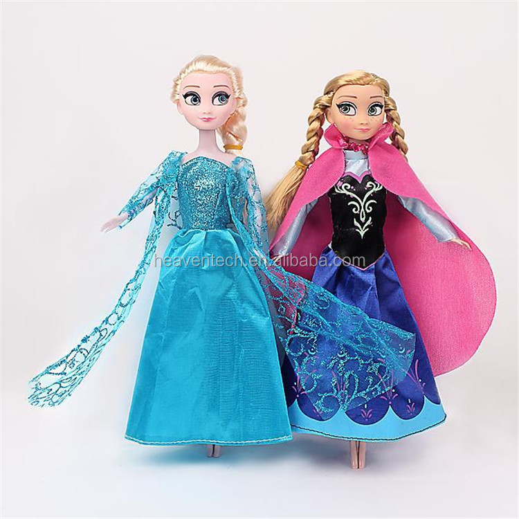 2015 New Frozen <strong>Doll</strong> Anna Elsa Princess <strong>Doll</strong> Cute Action Figures <strong>Dolls</strong> 2Pcs Set Classic Mini Baby Toys Wholesale