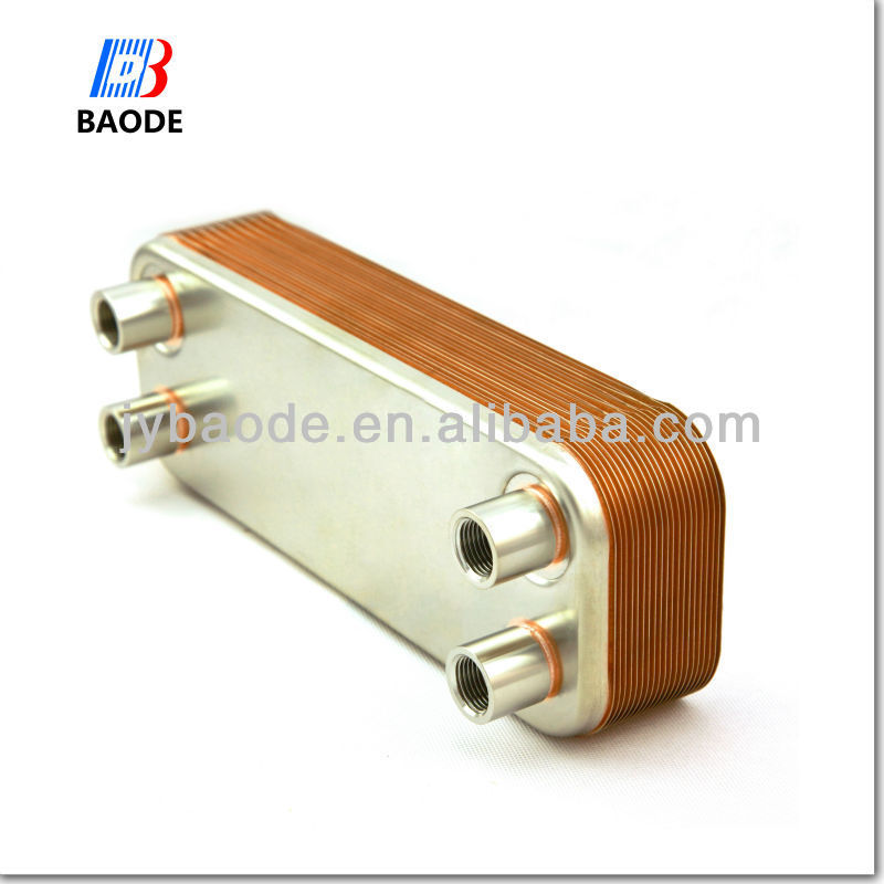 BL210 equal Alfa Laval AC250DQ Gas to liquid Dual system Copper Brazed Plate Heat Exchanger for air conditioning system