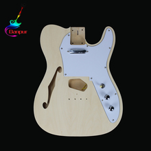 China Datang Factory solid wood unfinished electric diy guitar kit