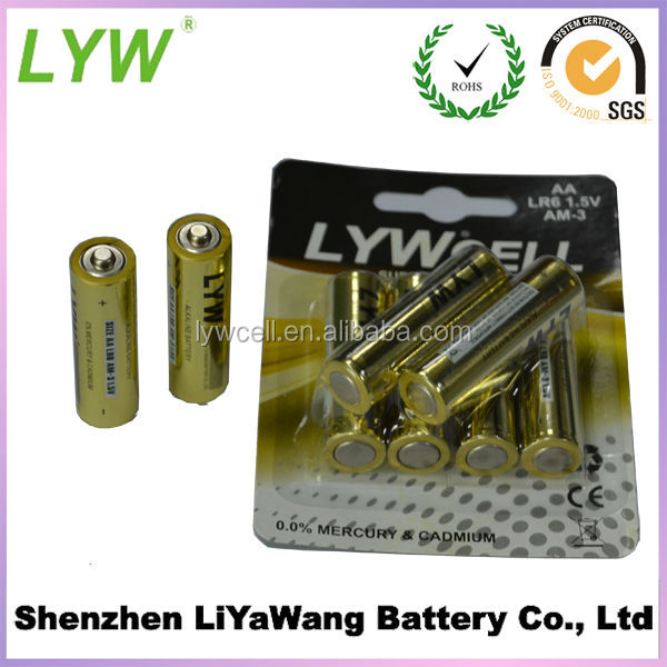 2014 New Wholesale LR6 AA Alkaline Battery AM-3 1 5V Battery In Stock