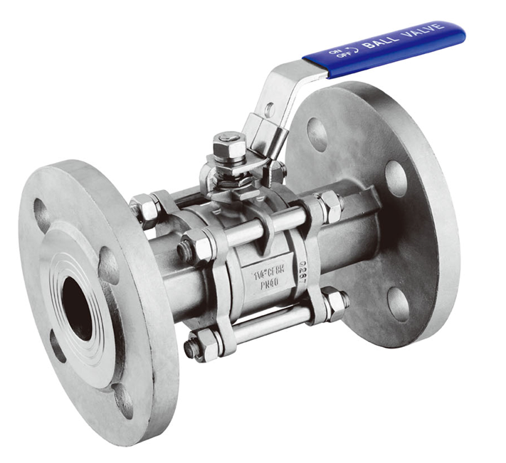 China High service free sample stainless steel 3PC Flanged Ball Valve (DIN)-301F