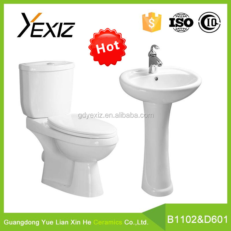 B1102 Popular Design Cheap Price Toilet Two Piece Anglo Indian Toilet