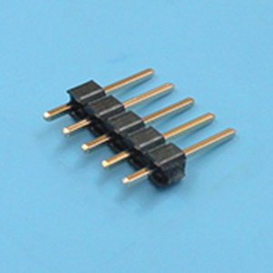 single row 2.54mm pitch round pin socket connector