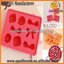 China factory silicone chocolate cookie candy molds