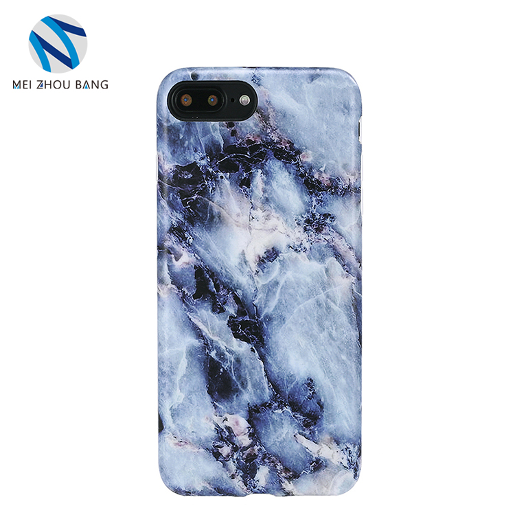 broken blue marble pattern phone case for iphone 8 plus 7 plus
