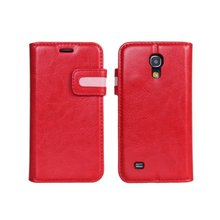 Dual Color Crazy Horse Wallet Leather Case for Samsung Galaxy S4 Mini i9190 i9192 i9195