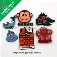 Guangzhou factory Eco-friendly wholesale soft pvc personalized fridge magnets