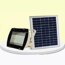 MicroSolar - 54 LED - Lithium Battery - Solar FloodLight --- Automatically Working from Dusk to Dawn at Good Sunshine