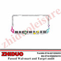 "OEM 6*12"" Full color Piano With Crystal Chrome Zinc License Plate Frame"