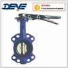 Universal Drill Ductile Iron Wafer Butterfly