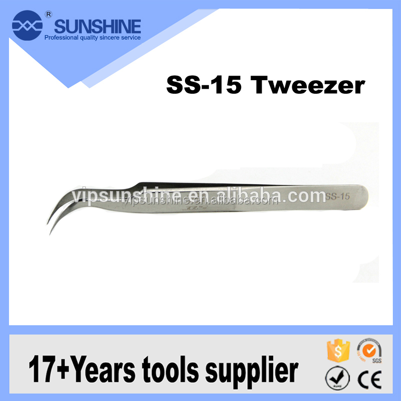 OEM multifunctional stainless steel curved tweezers for computer repair tools
