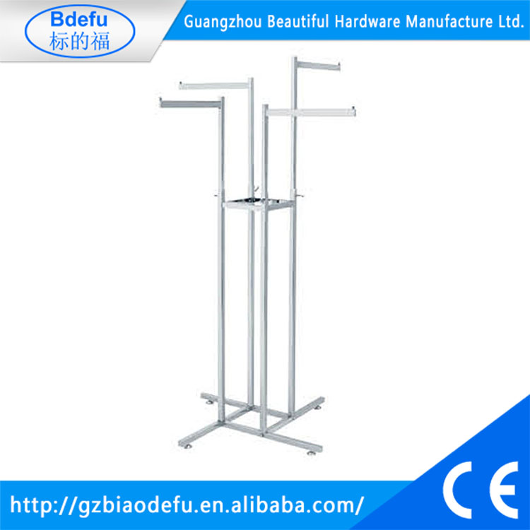 4-way adjustable height garment display stands,clothing rail