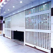 Venting Motorized Aluminum perforated rolling shutter door