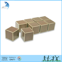 Educational equipment maths training tools montessori Wooden cube