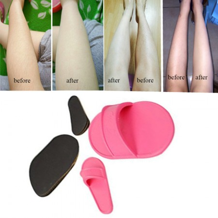 Efoliating Hair Removal Kit Smooth Legs Skin Pads Arm Face Upper Lip Remover